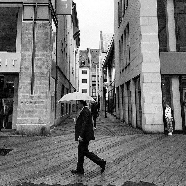 Ehrenmann. #Europe #Germany #Nuremberg #RoadTrip #Travel #Photographers #BN #LU #Men #Umbrella #LetsExplore