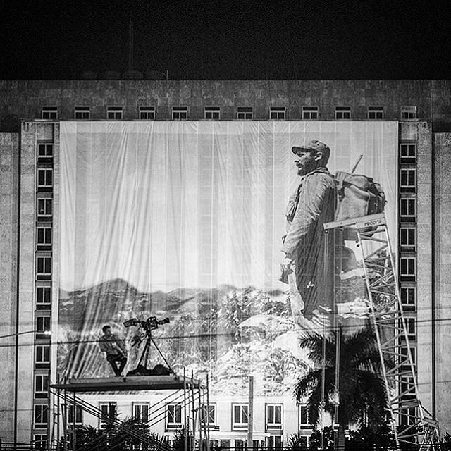 Esperando el adiós.... #fidelcastro #Cuba #Habana